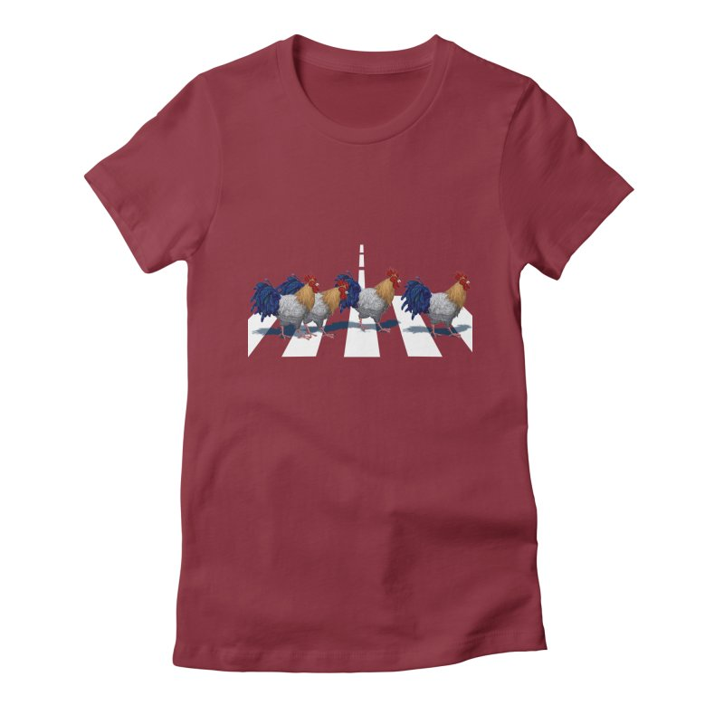 Road Roosters Women's Fitted T-Shirt by richgrote's Shop