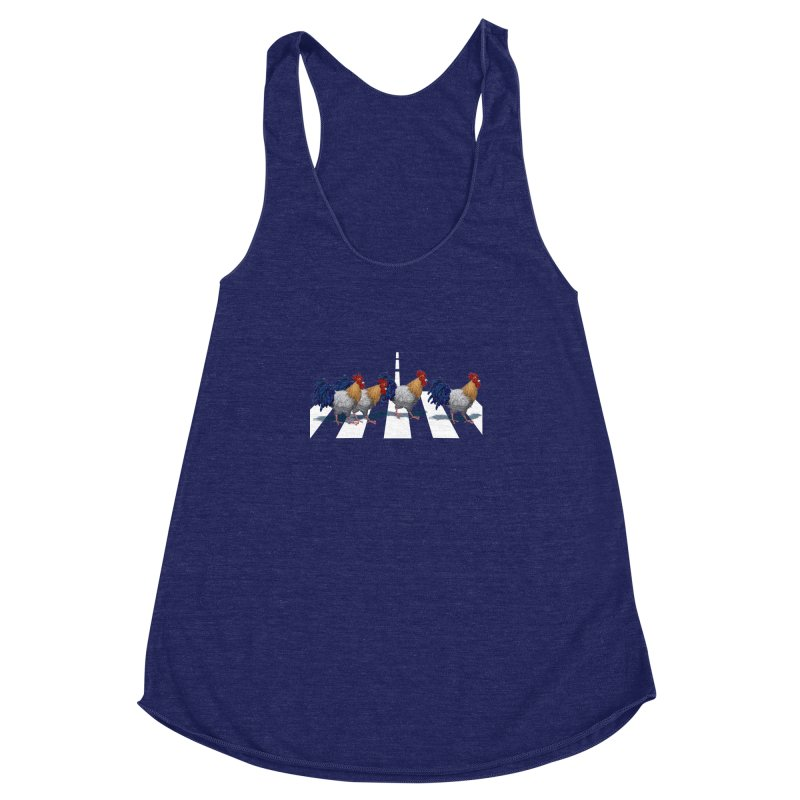 Road Roosters Women's Racerback Triblend Tank by richgrote's Shop