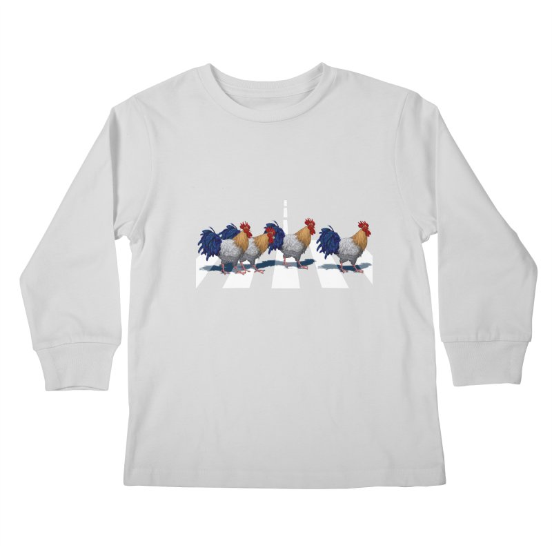 Road Roosters Kids Longsleeve T-Shirt by richgrote's Shop