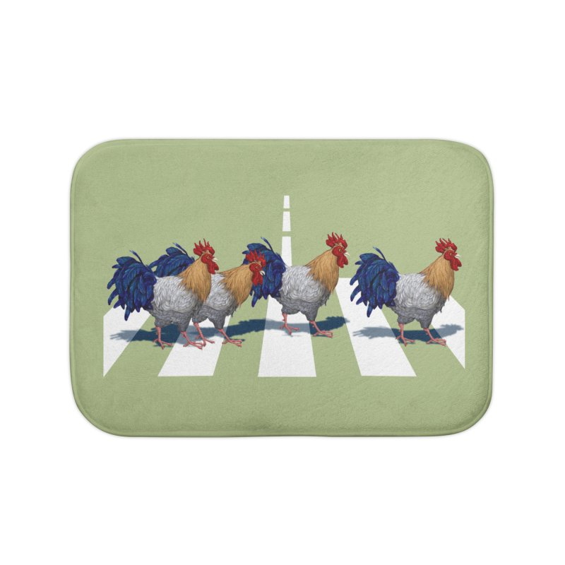 Road Roosters Home Bath Mat by richgrote's Shop