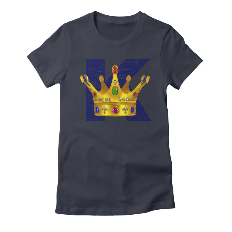 King Women's Fitted T-Shirt by richgrote's Shop
