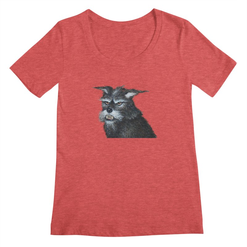Mad Dog Women's Scoopneck by richgrote's Shop