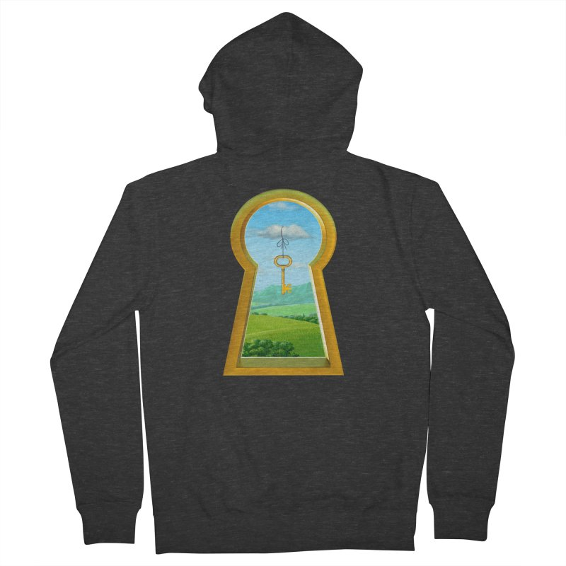 Keyhole Men's Zip-Up Hoody by richgrote's Shop