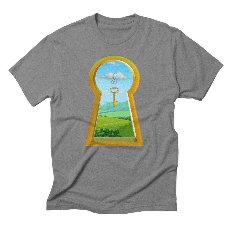 Keyhole Men's Triblend T-shirt by richgrote's Shop