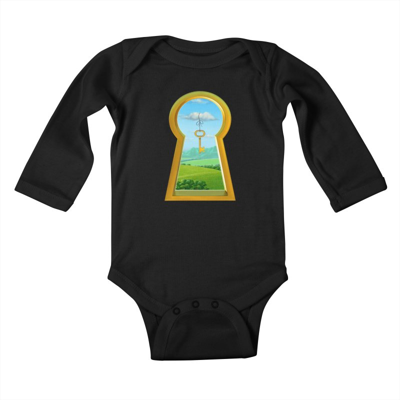 Keyhole Kids Baby Longsleeve Bodysuit by richgrote's Shop