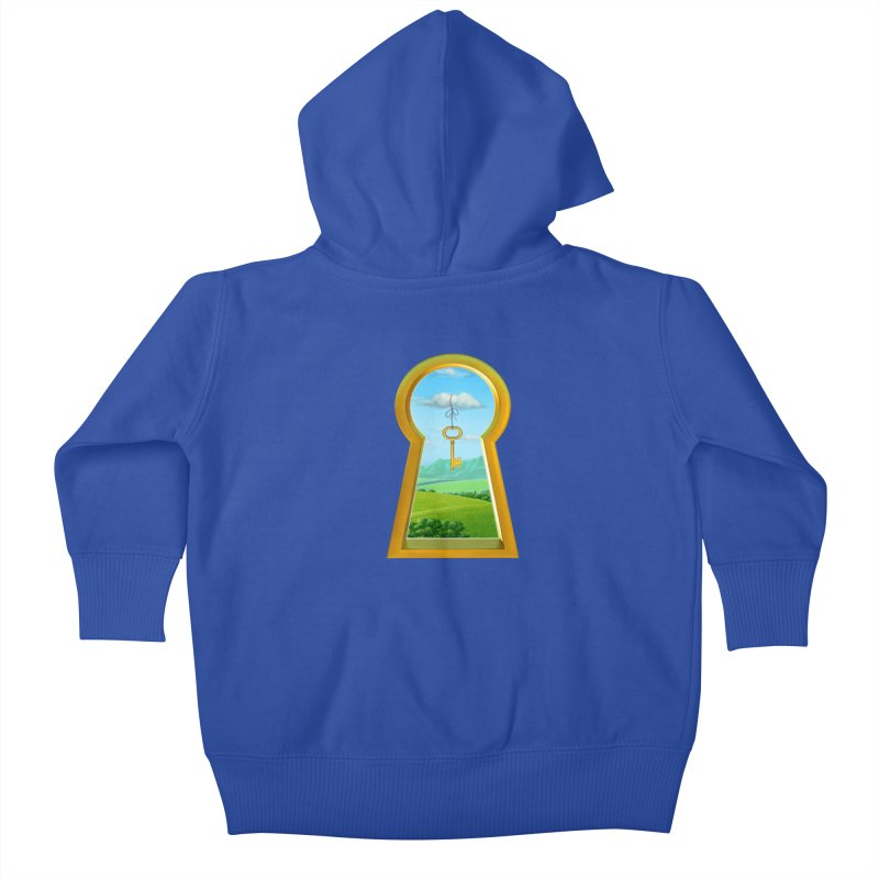 Keyhole Kids Baby Zip-Up Hoody by richgrote's Shop