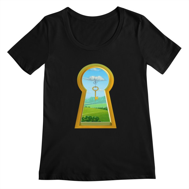 Keyhole Women's Scoopneck by richgrote's Shop