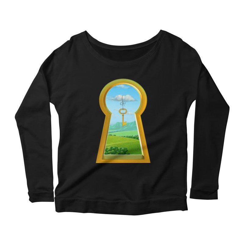 Keyhole Women's Scoop Neck Longsleeve T-Shirt by richgrote's Shop