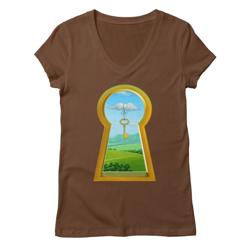 Keyhole Women's V-Neck by richgrote's Shop