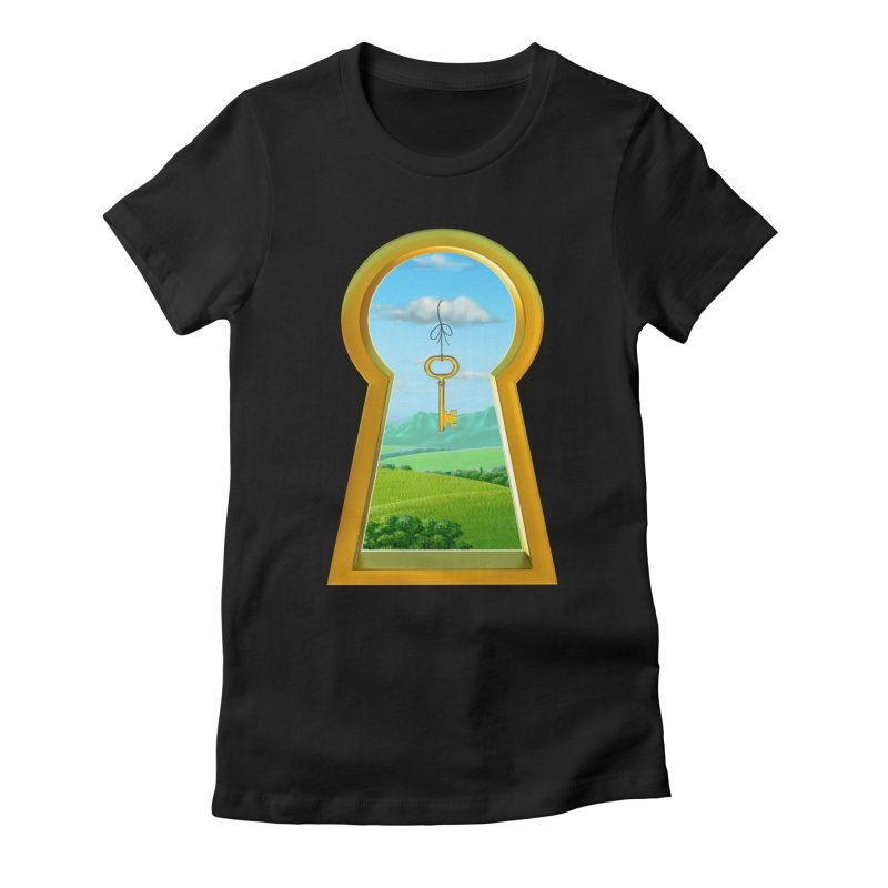 Keyhole Women's Fitted T-Shirt by richgrote's Shop