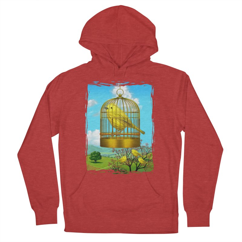 birdcage Men's French Terry Pullover Hoody by richgrote's Shop