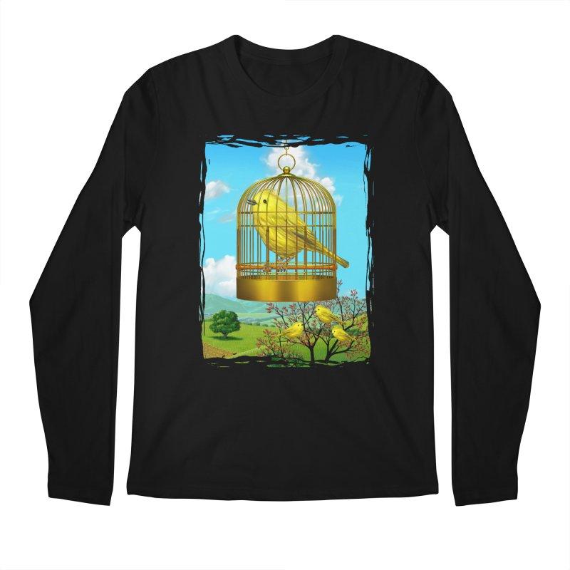 birdcage Men's Regular Longsleeve T-Shirt by richgrote's Shop