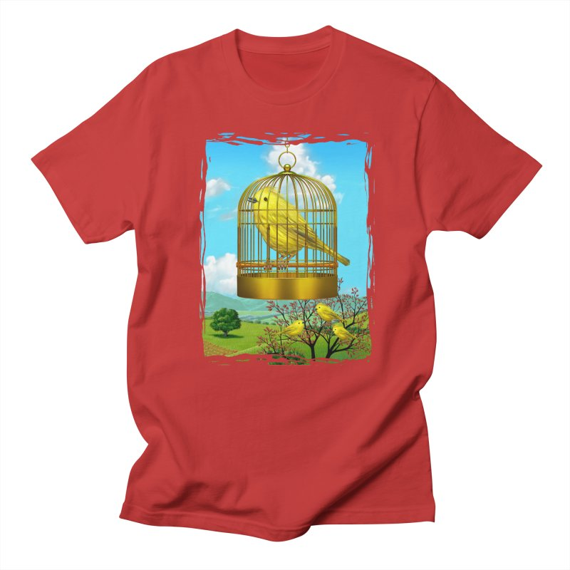 birdcage Men's Regular T-Shirt by richgrote's Shop