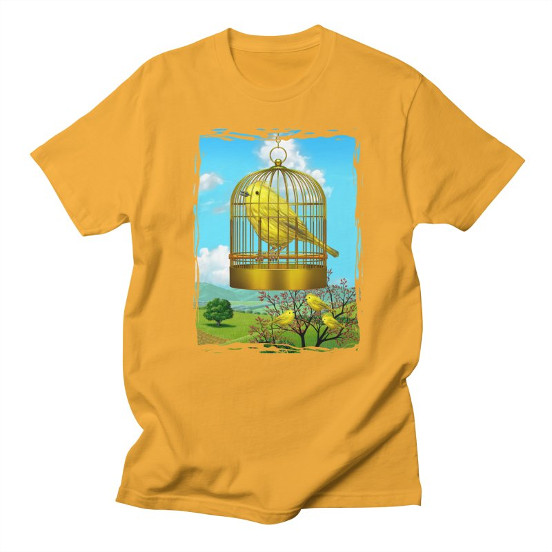 birdcage Men's T-Shirt by richgrote's Shop