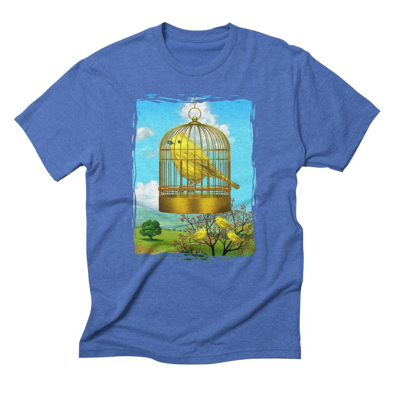 birdcage Men's Triblend T-shirt by richgrote's Shop