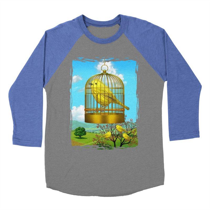 birdcage Men's Baseball Triblend T-Shirt by richgrote's Shop