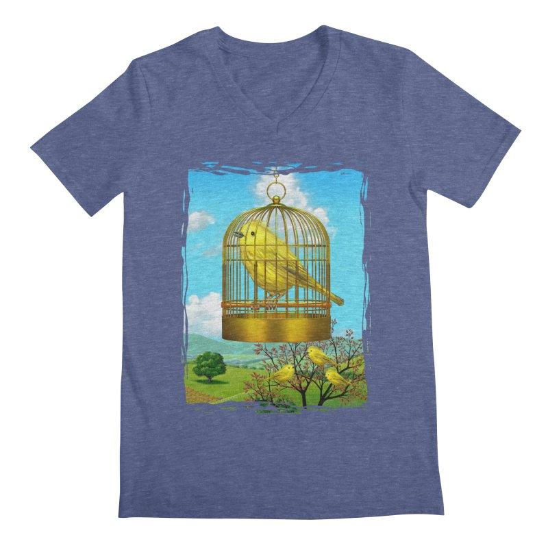birdcage Men's V-Neck by richgrote's Shop