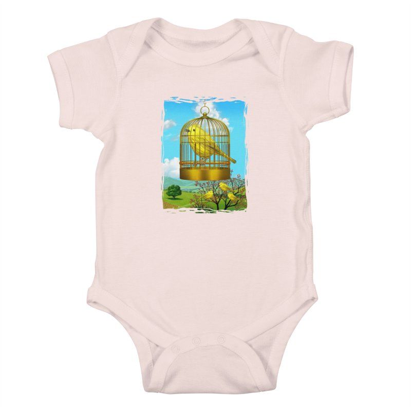 birdcage Kids Baby Bodysuit by richgrote's Shop
