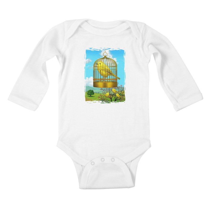 birdcage Kids Baby Longsleeve Bodysuit by richgrote's Shop