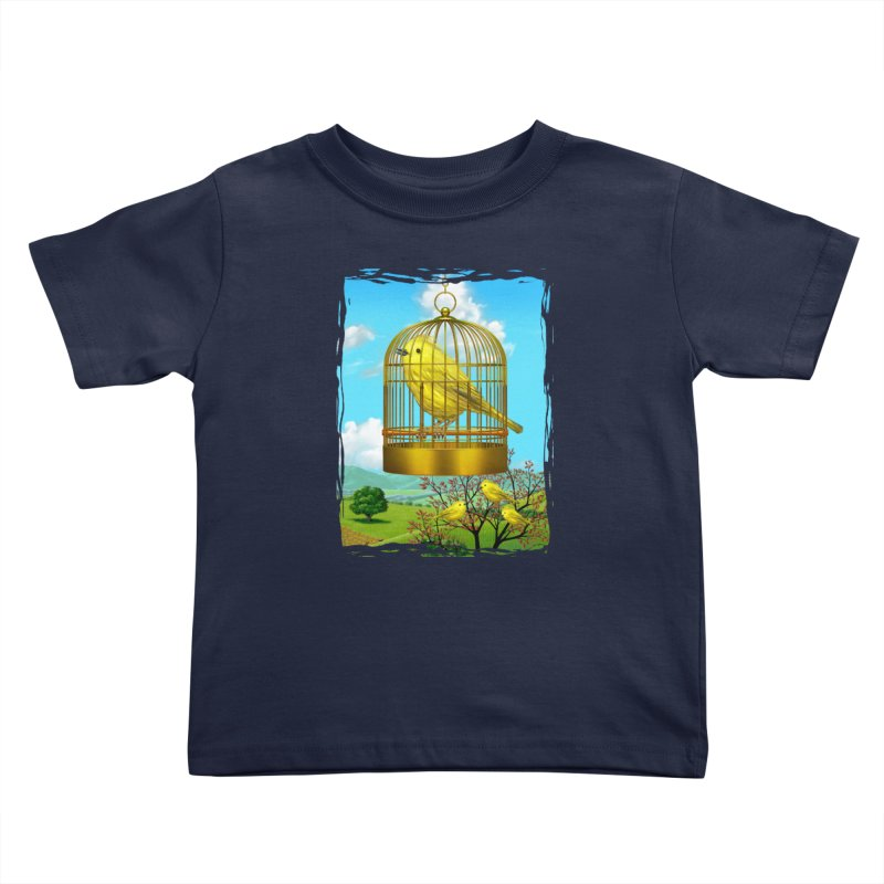 birdcage Kids Toddler T-Shirt by richgrote's Shop