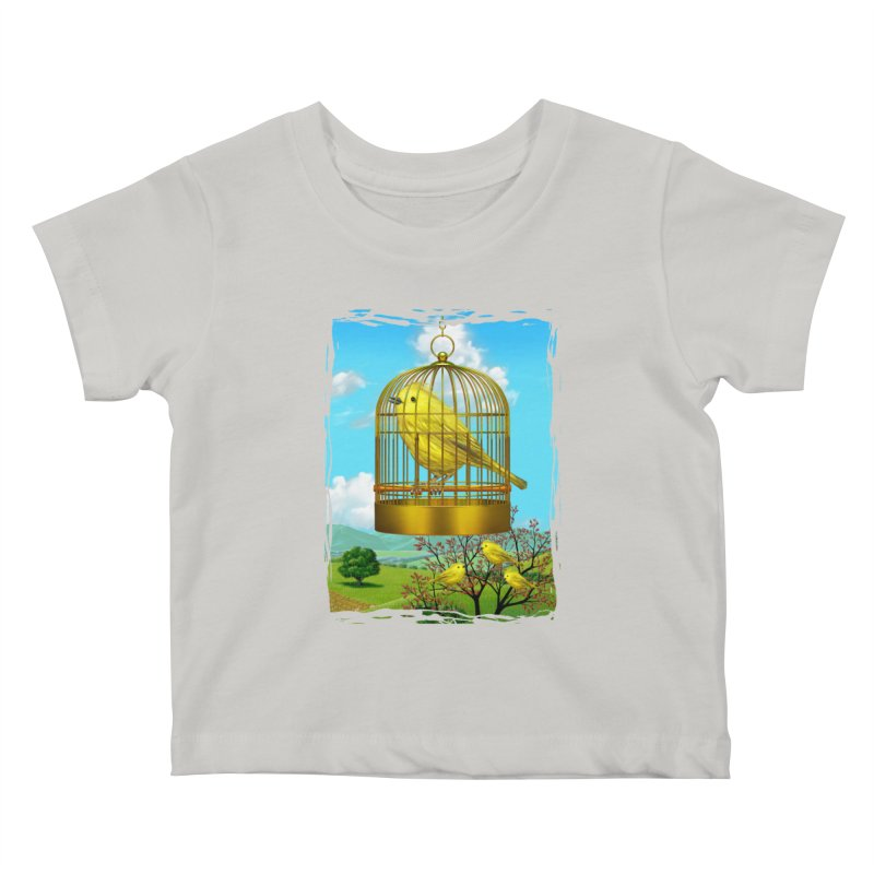 birdcage Kids Baby T-Shirt by richgrote's Shop