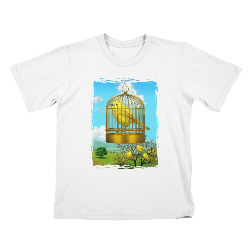birdcage Kids T-shirt by richgrote's Shop
