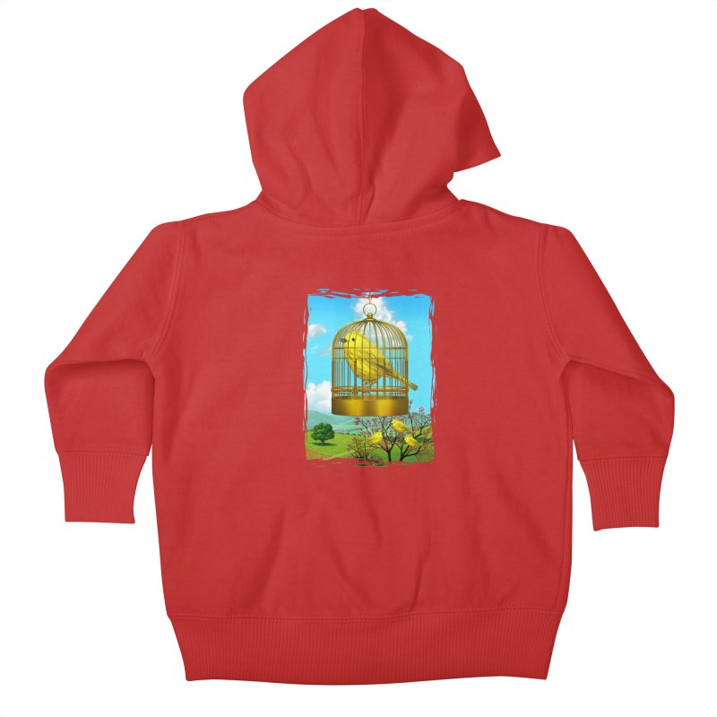 birdcage Kids Baby Zip-Up Hoody by richgrote's Shop