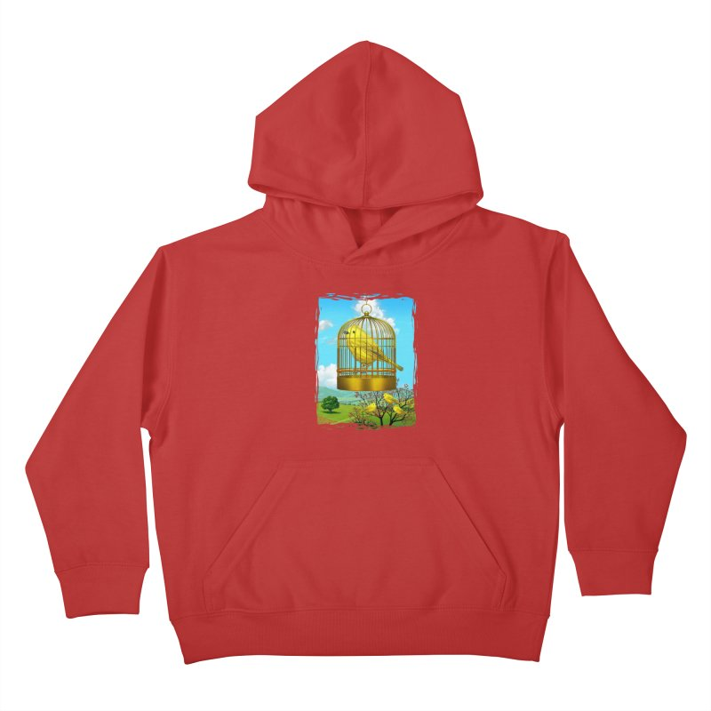 birdcage Kids Pullover Hoody by richgrote's Shop