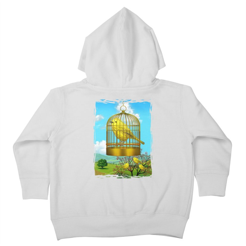 birdcage Kids Toddler Zip-Up Hoody by richgrote's Shop