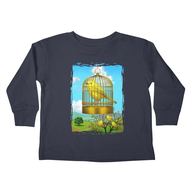 birdcage Kids Toddler Longsleeve T-Shirt by richgrote's Shop