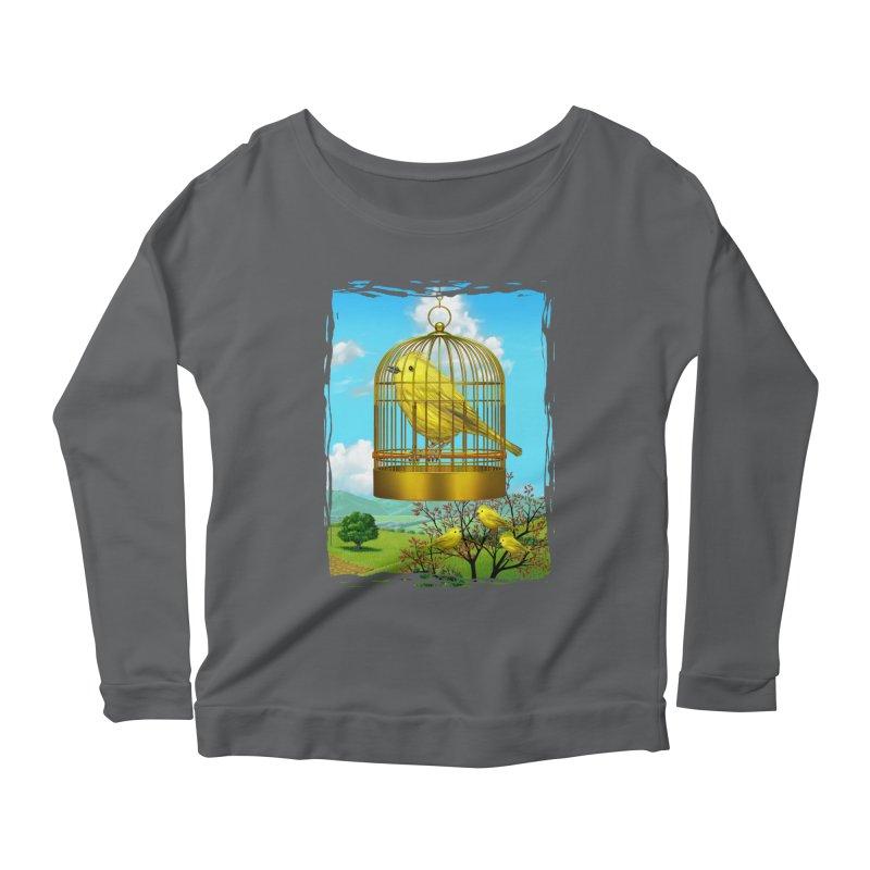 birdcage Women's Scoop Neck Longsleeve T-Shirt by richgrote's Shop