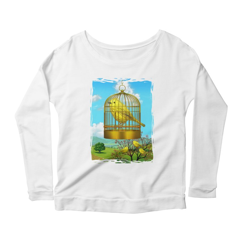 birdcage Women's Longsleeve Scoopneck  by richgrote's Shop