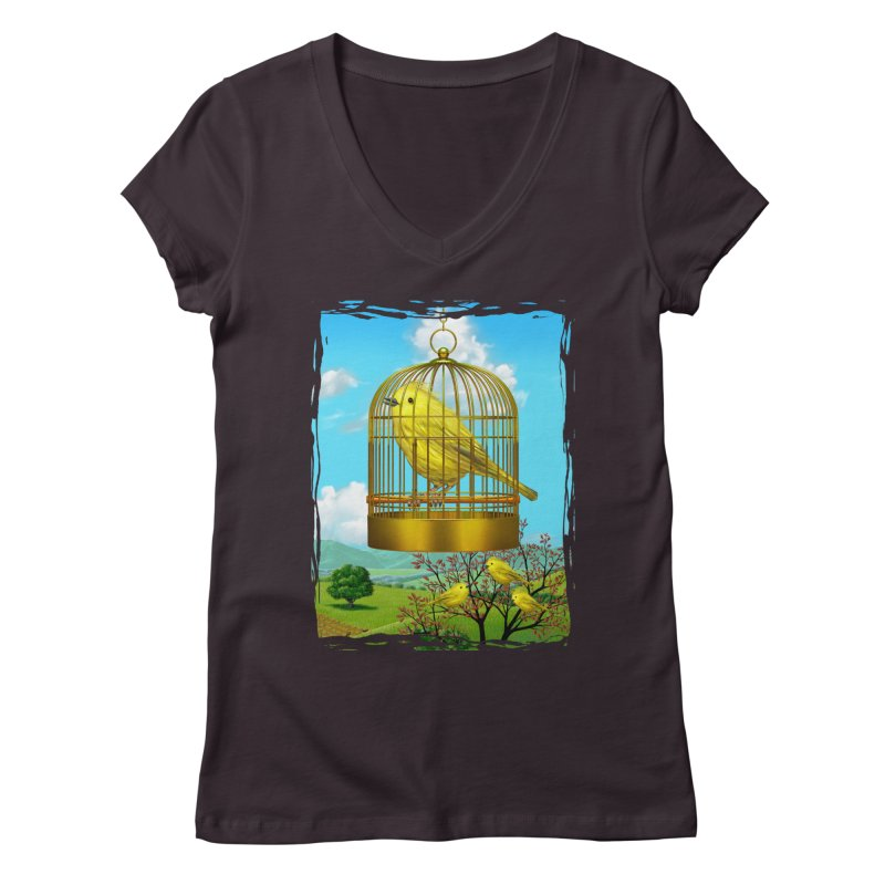 birdcage Women's Regular V-Neck by richgrote's Shop
