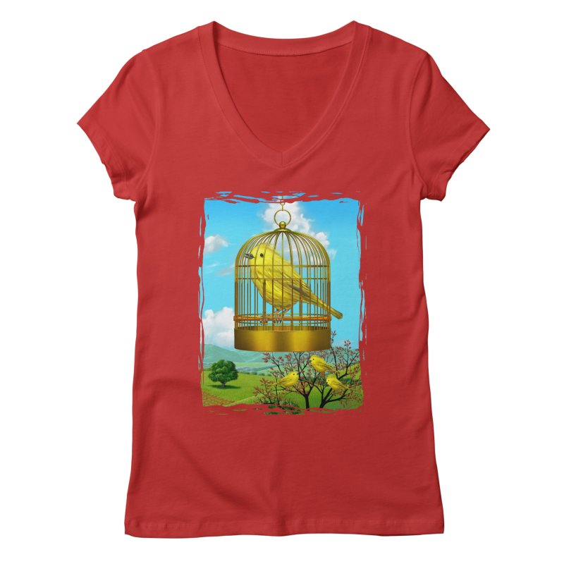 birdcage Women's V-Neck by richgrote's Shop