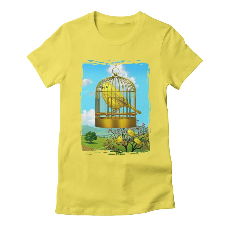 birdcage Women's Fitted T-Shirt by richgrote's Shop