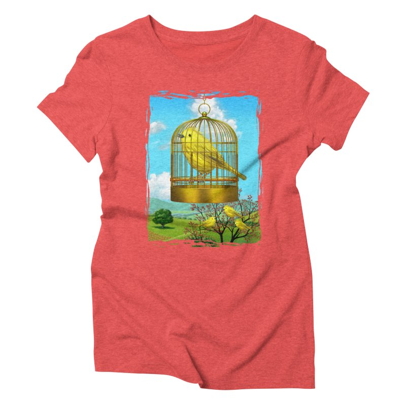 birdcage Women's Triblend T-shirt by richgrote's Shop