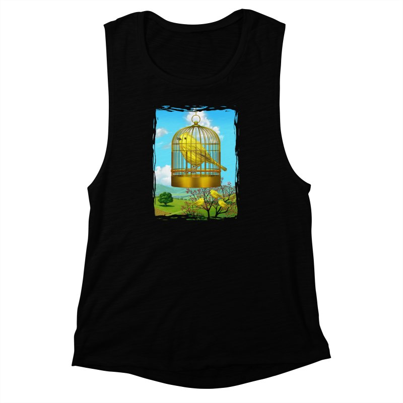 birdcage Women's Muscle Tank by richgrote's Shop