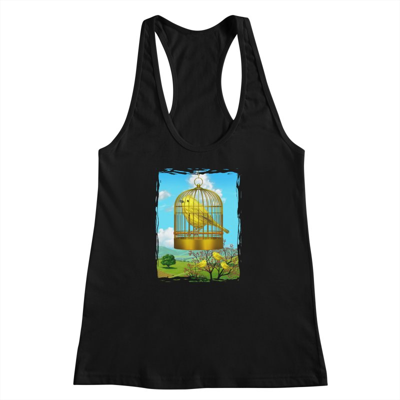 birdcage Women's Racerback Tank by richgrote's Shop