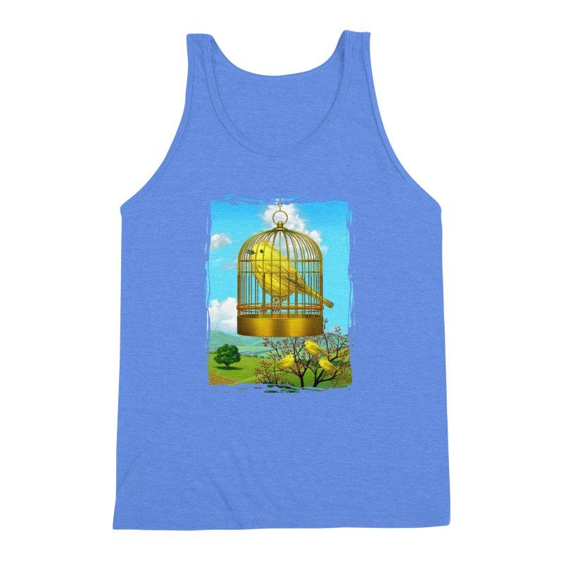 birdcage Men's Triblend Tank by richgrote's Shop