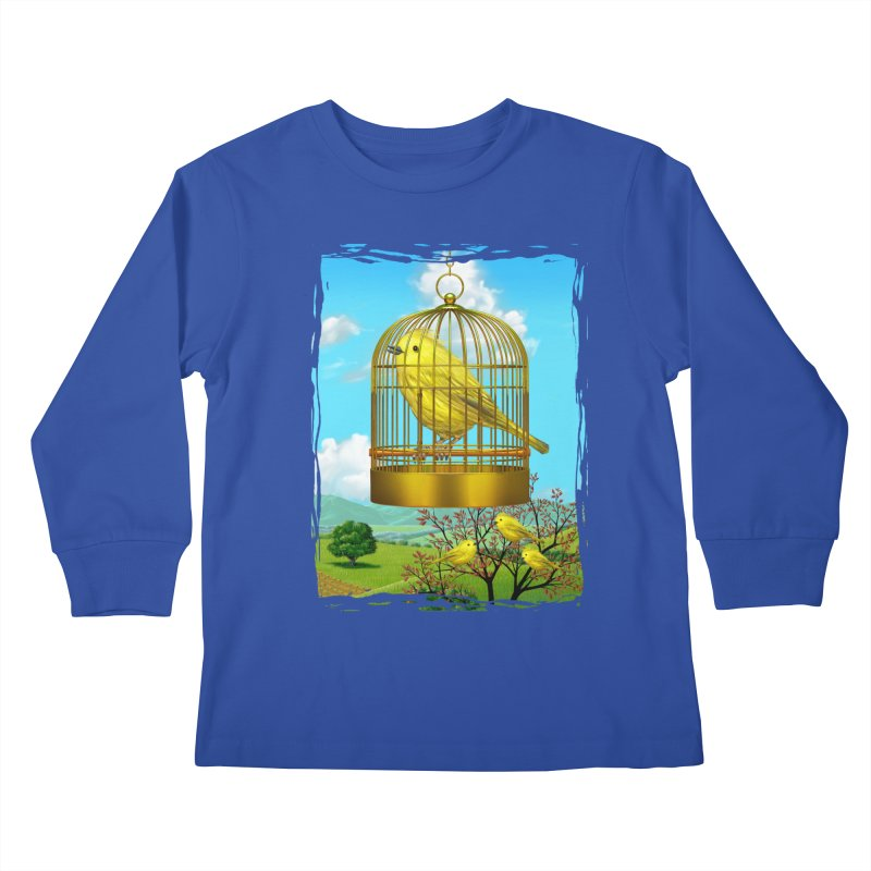 birdcage Kids Longsleeve T-Shirt by richgrote's Shop