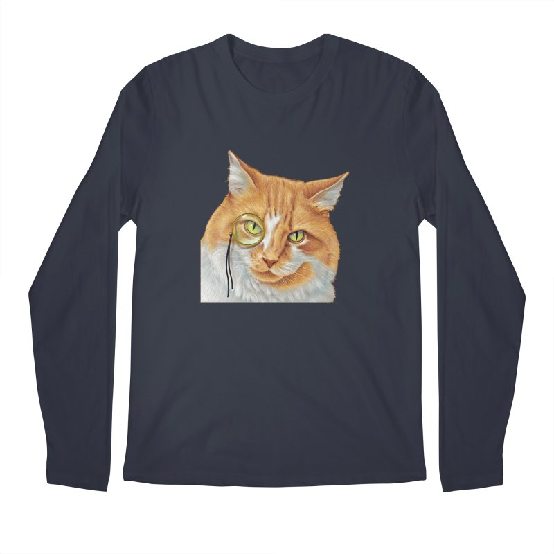 Captain Cat Men's Regular Longsleeve T-Shirt by richgrote's Shop
