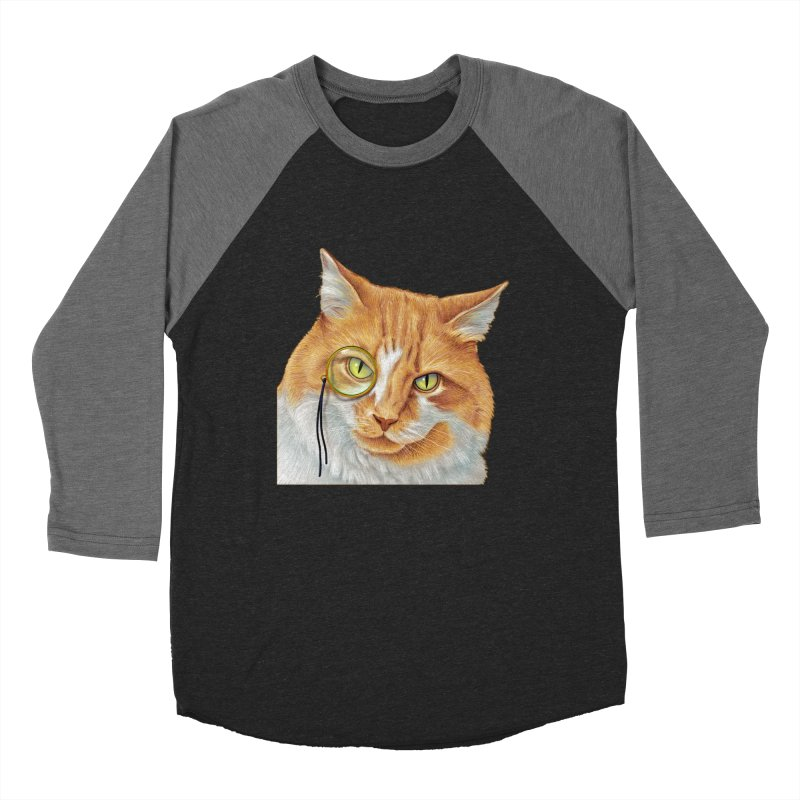 Captain Cat Men's Baseball Triblend Longsleeve T-Shirt by richgrote's Shop