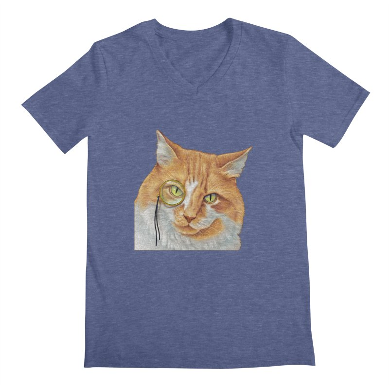 Captain Cat Men's Regular V-Neck by richgrote's Shop