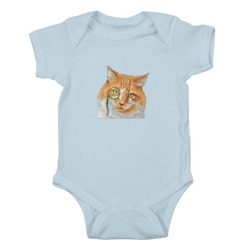 Captain Cat Kids Baby Bodysuit by richgrote's Shop