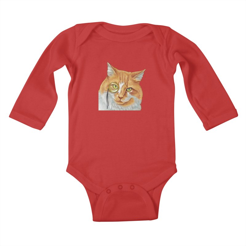 Captain Cat Kids Baby Longsleeve Bodysuit by richgrote's Shop