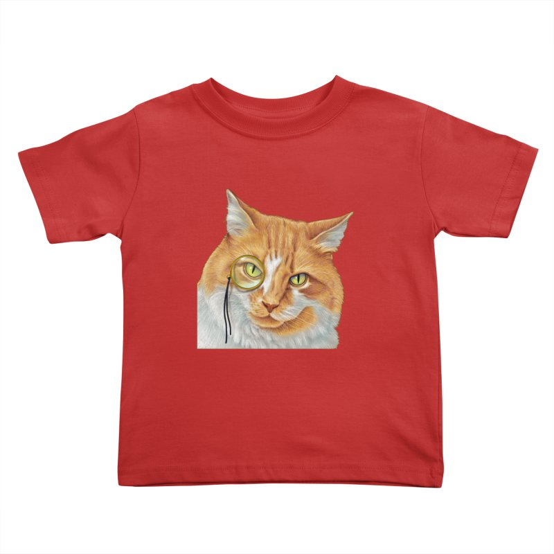 Captain Cat Kids Toddler T-Shirt by richgrote's Shop