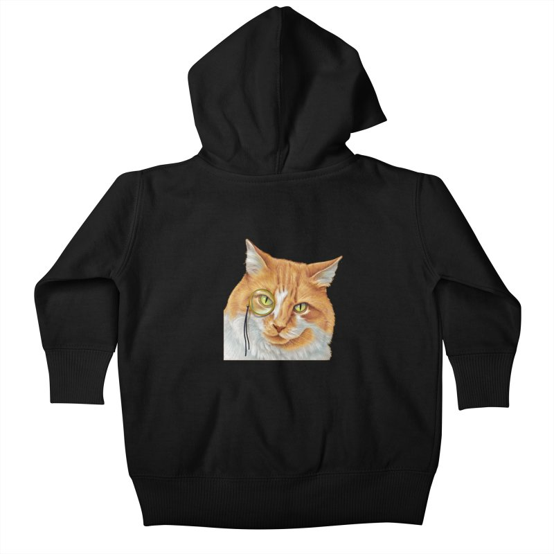 Captain Cat Kids Baby Zip-Up Hoody by richgrote's Shop