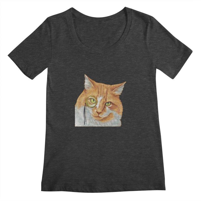 Captain Cat Women's Scoopneck by richgrote's Shop