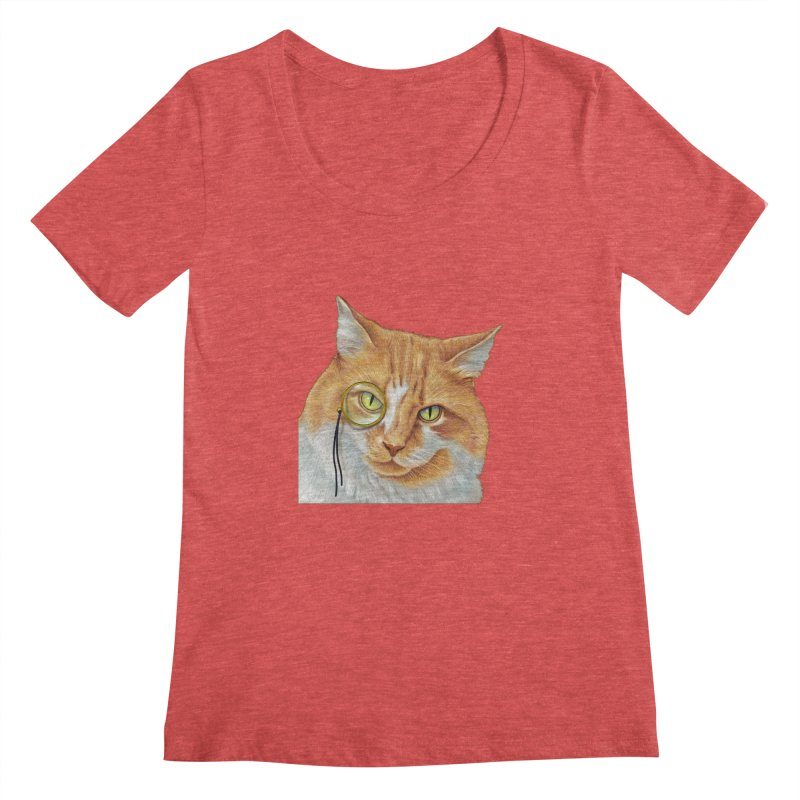 Captain Cat Women's Scoopneck by richgrote's Shop