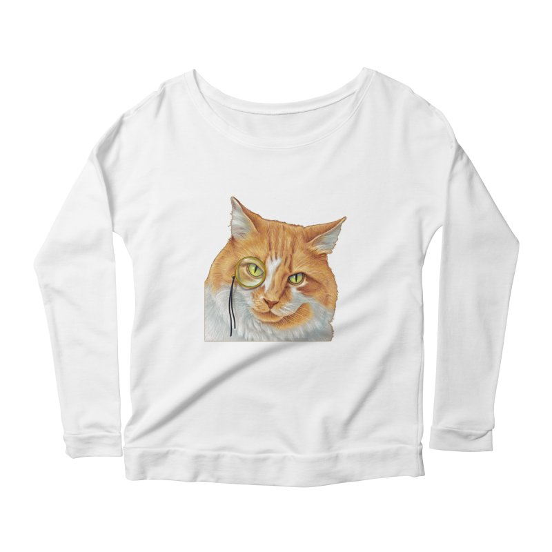 Captain Cat Women's Scoop Neck Longsleeve T-Shirt by richgrote's Shop